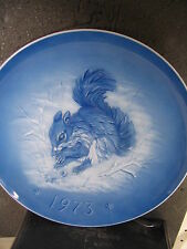Hutschenreuther Germany  1973 GRACIOUS GIFT Squirrel  Ltd Ed Plate