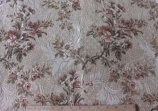 """French Antique c1910-20 Woven Jacquard Tapestry Home Dec Floral Fabric~26""""LX21""""W"""