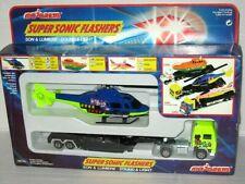 Majorette Set Kenworth Trailer Truck + Helicopter Super Sonic Flasher 1/60