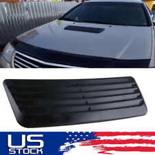 Black Air Flow Intake Hood Decorative Scoop Vent Bonnet Cover Universal Car Ba Fits More Than One Vehicle