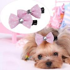 10 pcs/lot Pet Dog Bow Tie Hair Clip Hairpin Random Color Cat Hair Accessories A