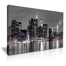 New York City Skyline Canvas Wall Art Picture Print 76x50cm