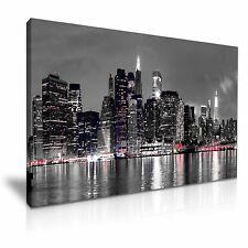 New York City Skyline Canvas Wall Art Picture Print 76x50cm