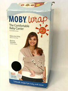 Moby Wrap UV SPF 45+ 100% Tan Cotton Carrier Floral 8-35# Baby ~ 2013 Never Used