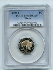 2005 S 5C Bison Jefferson Nickel PCGS PR69DCAM