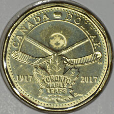 """CANADA 1$ Dollar 2017 """"100th anniversary of the Toronto Maple Leafs"""" in MS"""