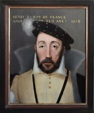 16th C KING HENRI II. OLD MASTER FRENCH antique OIL PANEL PAINTING CRADLED