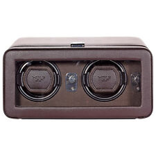 Wolf Designs Windsor Module 2.5 Brown Leather Double Watch Winder 4526519