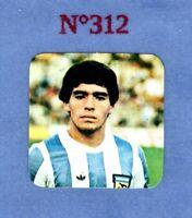 FIGURINA MARADONA PANINI STICKERS N.312 ARGENTINA MARADONA ROOKIE 1979 80 RARA