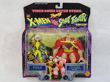 Marvel X-men's Rogue VS. Zangief Street Fighter Action Figures Capcom Toy Biz