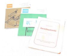 Vecchia Manuale di Istruzioni Prospetto Brochure Garanzia Quaderno Rip