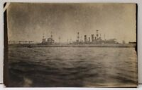 RPPC Imperial German Navy Ships Real Photo Early 1900's Postcard A9