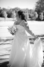Benjamin Roberts Wedding Dress - Worn once, A-line, 20W, beaded, optional strap