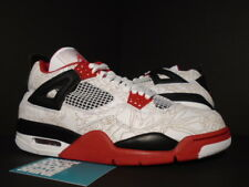 2005 Nike Air Jordan IV 4 Retro WHITE BLACK FIRE RED LASER CEMENT 308497-161 8