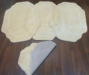 ROMANY WASHABLE TRAVELLERS 4 MATS NON SLIP NEW DESIGN SUPER THICK CREAM CARVED