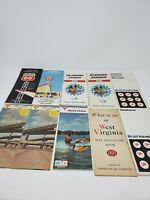Lot of 10 Vintage US Road Maps & Touring Guides 1960's  Oil Gas Companies