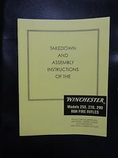 Winchester takedown manual for the 250, 270, 290 Rim Fire Rifles
