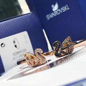 Swarovski new fashion Hollow out Black  white Swan bracelet 5289535