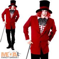 Dark Mad Hatter Mens Fancy Dress Fairytale Dickens Halloween Adults Costume