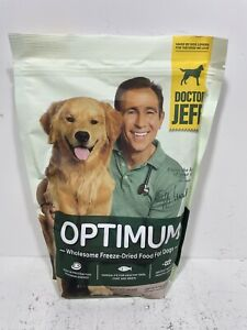 1 Dr Jeff's Optimum Freeze Dried Dog Food Adult Bag 16 oz EXP 2022 NEW