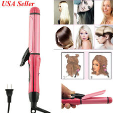 Lady Mini Ceramic Hair Straightener Curler Flat Iron Perm Splint Hair for Beauty