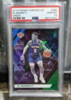 2019 Panini Chronicles Recon GREEN RJ Barrett Rookie #290 PSA 10 Gem Mint RC