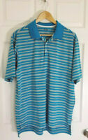 Adidas Men's Golf Striped Performance Short Sleeve Golf Polo Shirt Size Large L
