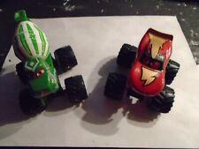 Disney Pixar Cars, Monster Trucks - Plastic ( Mcqueen & Cement Mixer )