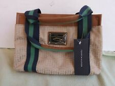 Tommy Hilfiger Cloth Medium Tan Satchel Handbag