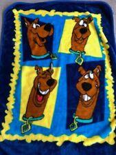 "Scooby Doo Htf Plush Throw Fleece Blanket 50""x 60"" Cartoon Network Vintage"