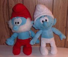 Lot of 2 Smurf Plush: Papa Smurt & Male Smurf