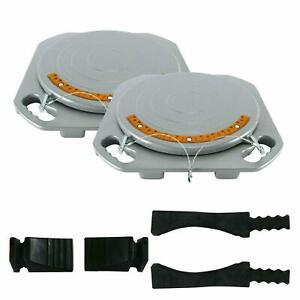 2 Wheel Alignment Turntable Turn Plates 10,000 Pounds Capacity + bridge blocks