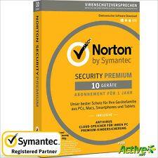 NORTON Security 2019 10 Geräte | PC,Mac,Android,iOS| Internet Security DE-Lizenz