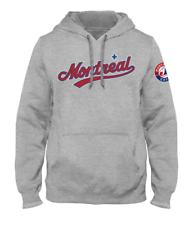 Мужской Монреаль икспос дорога Экспресс город слово марка вереска серая толстовка с капюшоном бейсбол, главная лига