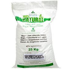 Magnesium badkristallen vlokken flakes 25 kg in stevige zak