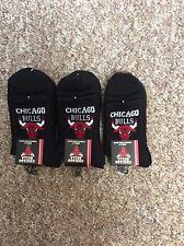 6 PAIRS MEN PREMIUM COTTON CUSHION SPORT SOCKS BASKETBALL NBA CHICAGO BULLS 6-11