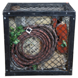 """1993 Donald Lipski """"Pieces of String"""" Abstract Caged Art Exhibit Sculpture 28"""""""