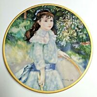 """VTG Pickard China The Children of Renoir """"Girl With A Hoop"""" 8"""" Decorative Plate"""
