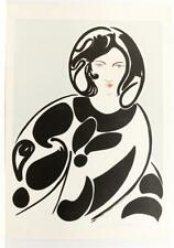 Signed 1969 Thomas M Barnett Listed Abstract Pop Art Nude Figures Serigraph #365