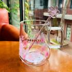 Starbucks Pink Sakura Color-changing Glass Coffee Mug Milk Cup Limited Edition