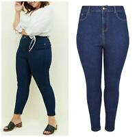 NEW LOOK Ladies Curve Plus Size JENNA Skinny Jeans Indigo Blue