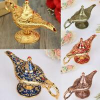 22cm Aladdin Magic Lamp Alloy Genie Wishing Retro Craft Creative Furnishing Gift