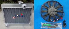 For TOYOTA COROLLA KE30 KE35 KE38 KE55 KE70 1974-1985 MT Aluminum radiator + Fan