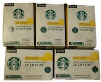 Starbucks k-cups flavored coffee 2X CAFFEINE 50 count Keuriq Honey Caramel