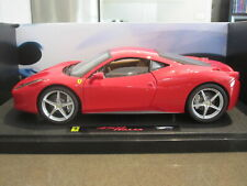 1:18 HOT WHEELS ELITE FERRARI 458 ITALIA RED