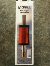 New Usa K-Drill Ice Drill Auger 12-inch Extension With Float #Idrlext
