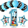 Disney Mickey Minnie Mouse 1st Birthday Foil Balloons Party Decorations 13 pcs