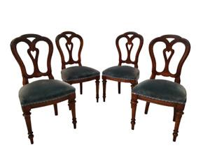 Gruppo di quattro sedie luigi filippo mogano - gambe tornite - sanissime!!