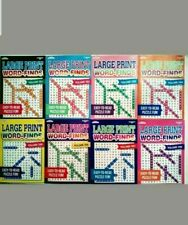 Lot of 6 Large Print Giant Word Search Books Word Find~Word Hunt~Puzzle New