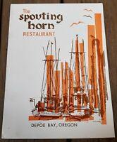 The Spouting Horn vintage restaurant menu, from Depoe Bay, Oregon